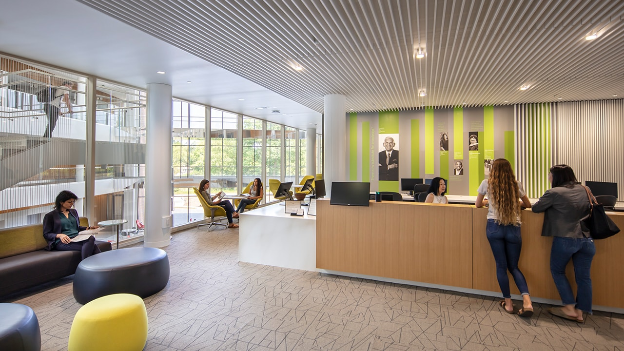 Inside the Russell Palmer Career Management Center in the Minskoff Pavilion.