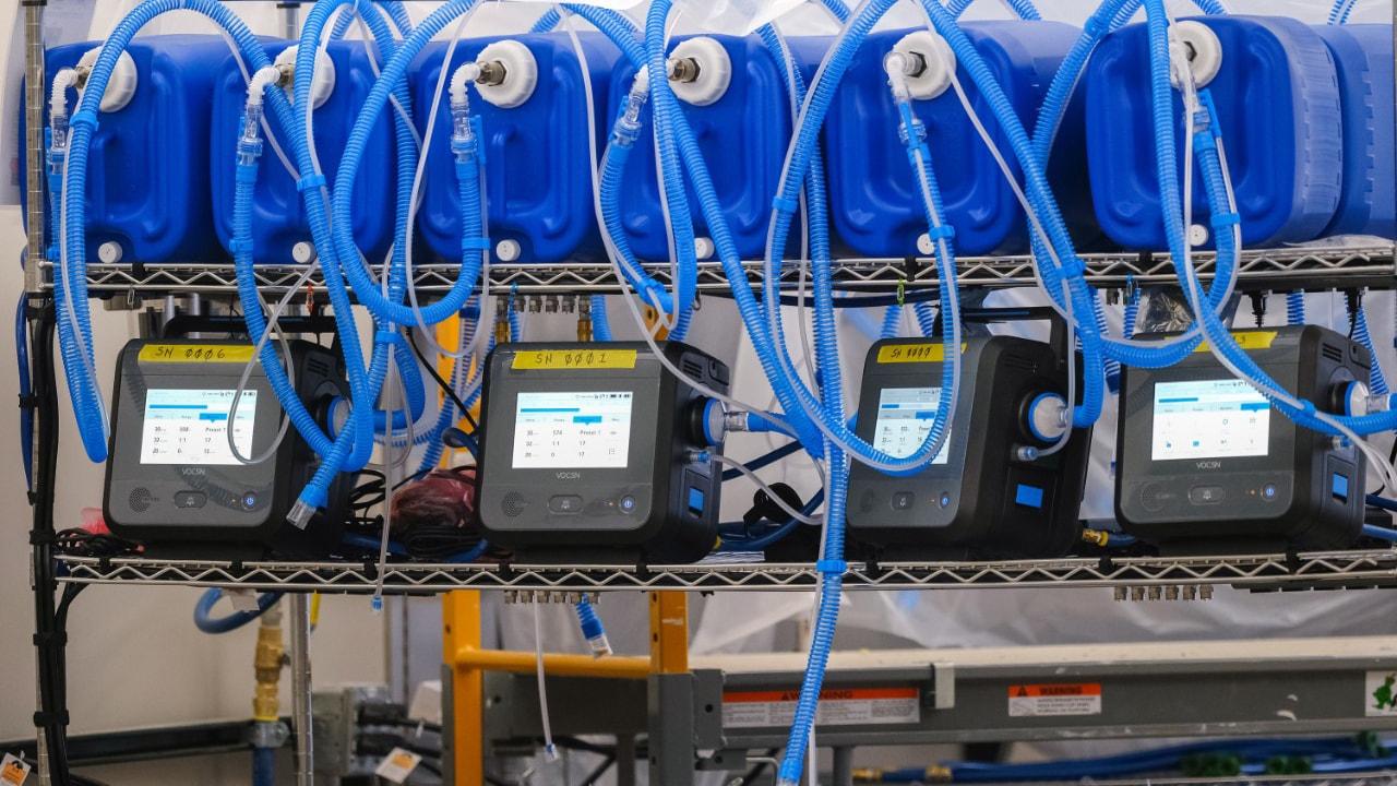 An image of a General Motors ventilator parts.