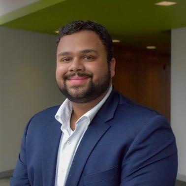 Professional headshot of Abhishek Tekumulla, a junior in finance.