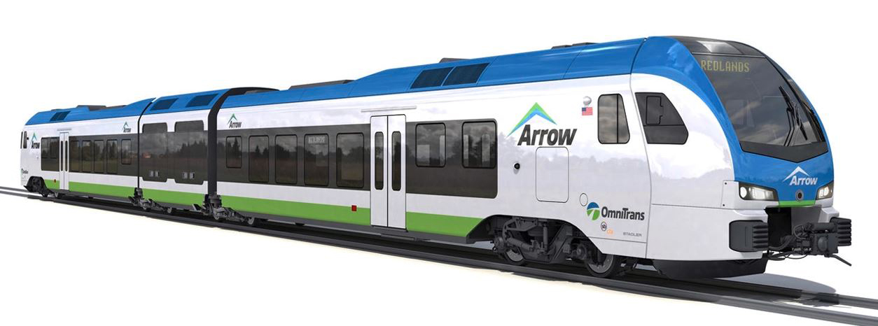 Digital rendering of commercial hydrogen-powered, zero-emission train.